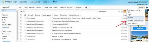 Fazendo o upgrade para o Outlook.com (Foto: Aline Jesus)