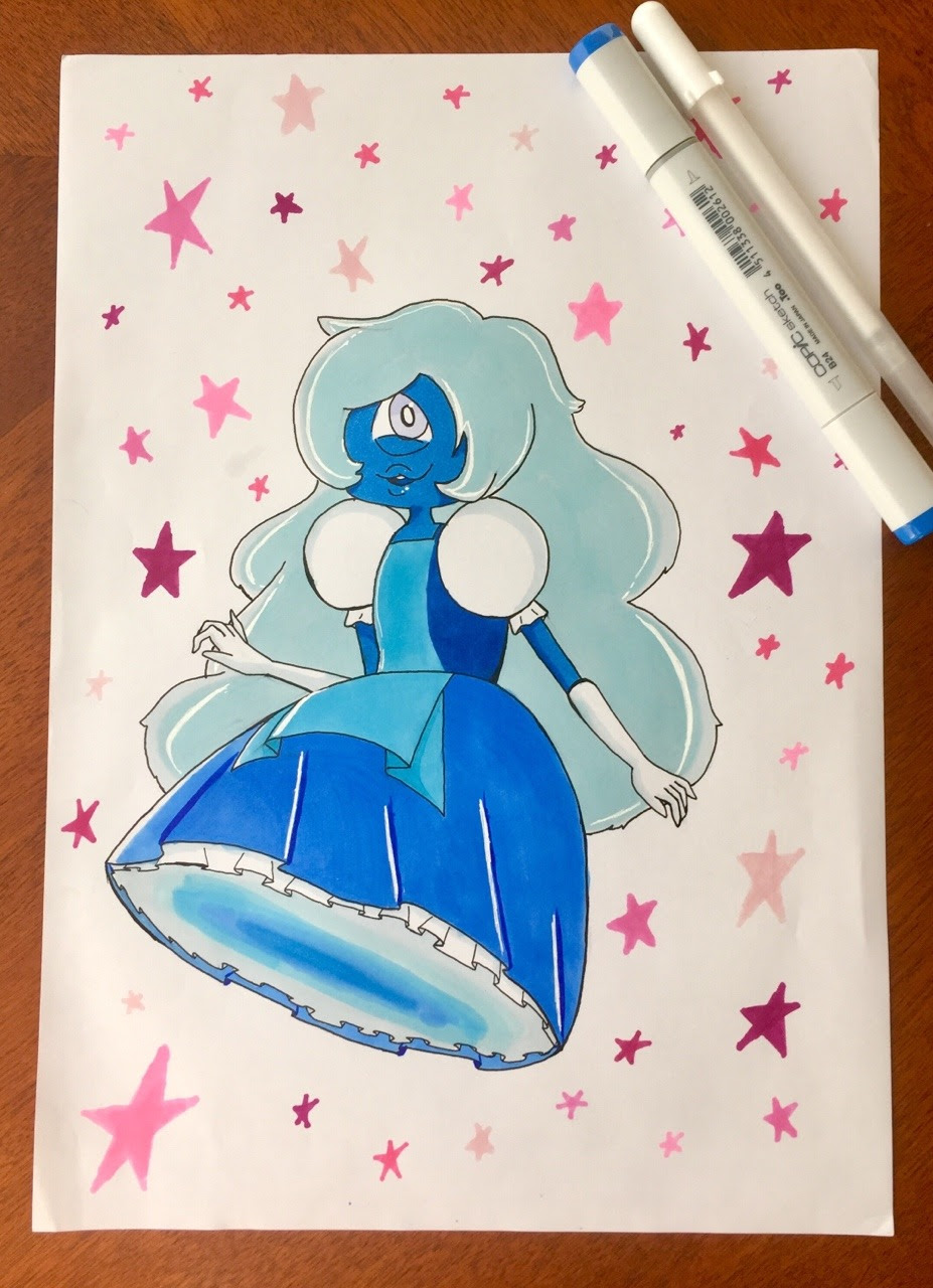 Inktober Day 5– Sapphire One of my favorite one-eyed cuties