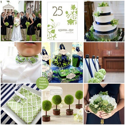 Green Wedding Ideas: Navy And Green Wedding Theme