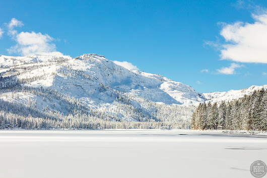 Snow Covered Donner Lake 1