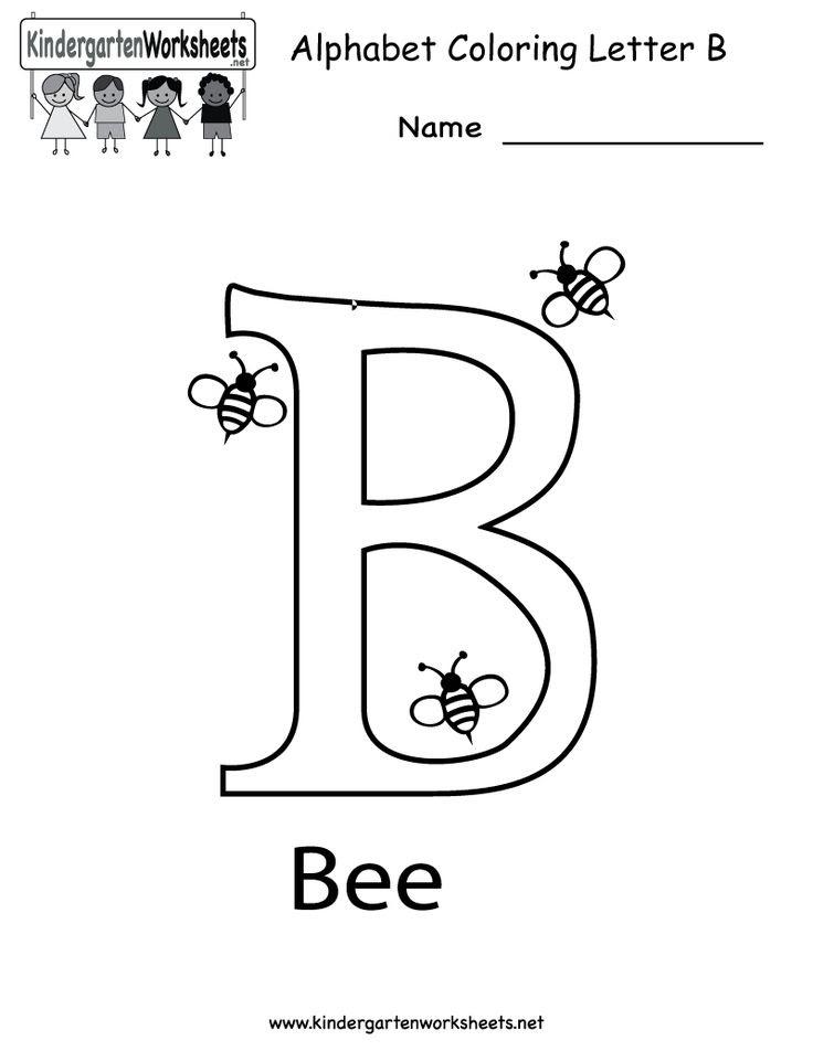 Kindergarten Letter B Coloring Worksheet Printable