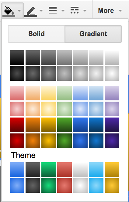 Google Drawing and Slides Now Have Gradients