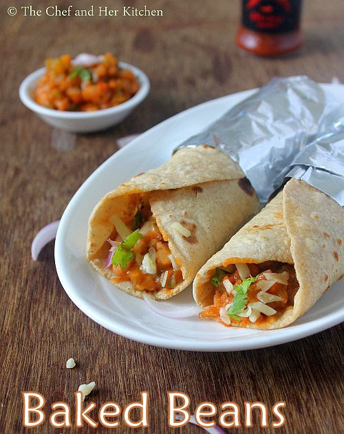 Baked Bean Wraps | Veg Wraps and Rolls Recipes