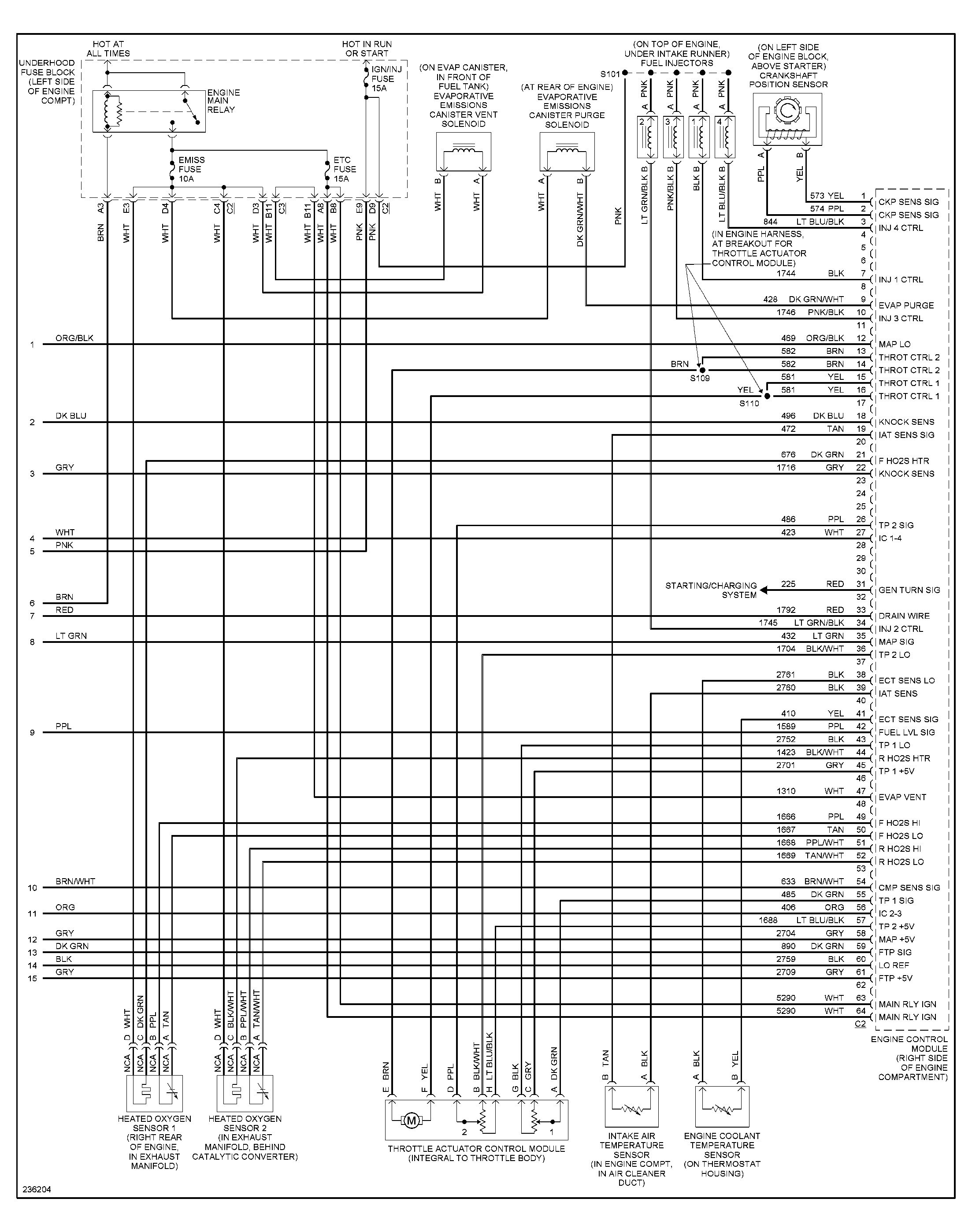 2001 Saturn Ignition Wiring Diagram