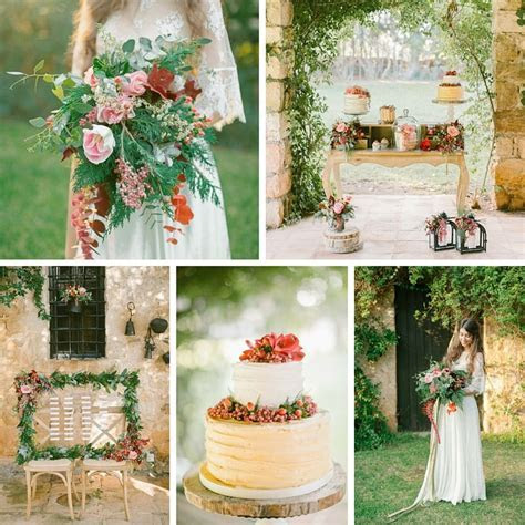 Vintage Boho Autumn Wedding Inspiration   Chic Vintage