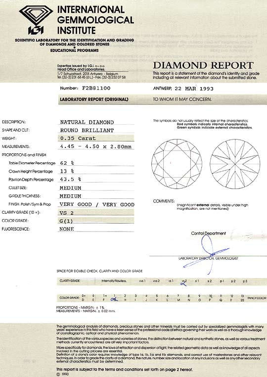 Original-Foto 9, DIAMANT 0,35 CARAT BRILLANT IGI-GUTACHTEN TOP WESSELTON, D6178