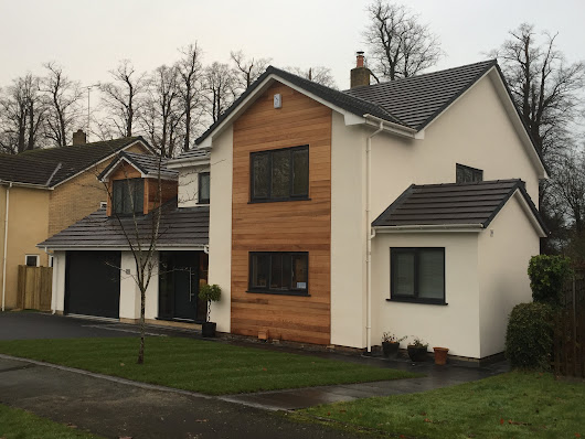 Timber cladding and render in Cheshire and Manchester.
