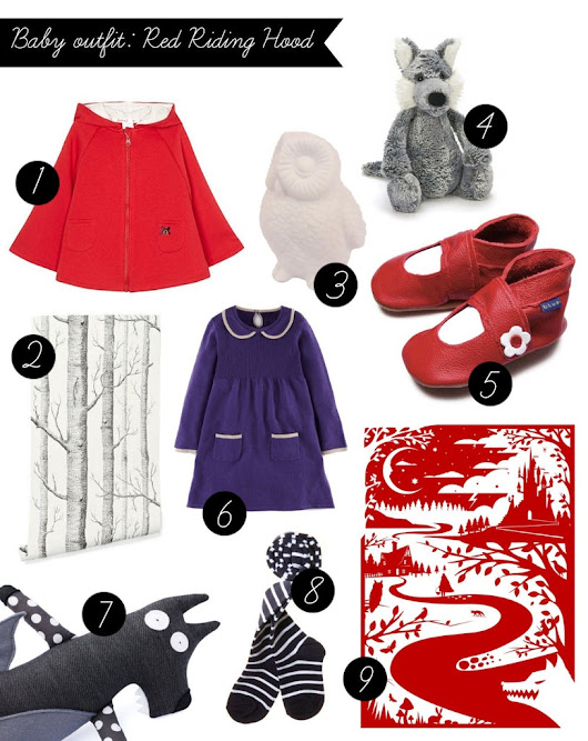 Theme: Red riding hood baby outfit