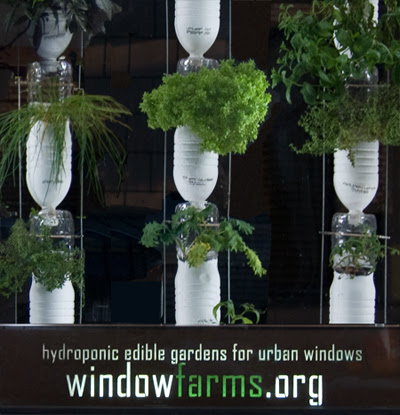 ... it allows vertical farming with a aquaponics system see window farms