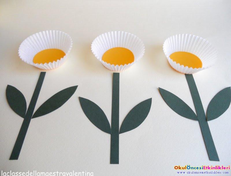 Cup Kek Kalıbı Ile Saksıda çiçek Yapalım Okul öncesi Etkinlikleri