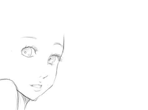 anime girl face base  noobypainterinx  deviantart