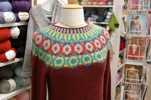 Circle yoke Sweater