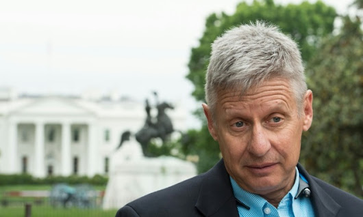 Libertarian Gary Johnson sees Trump threat as opportunity