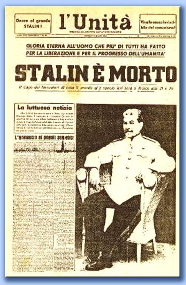 l'unità - stalin è morto