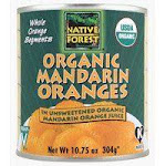 Native Forest Whole Mandarin Oranges 10.75 Oz -Pack of 6