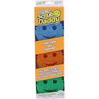 Scrub Daddy Scratch-Free Round Scrubbing Sponges, Assorted - 3 pack