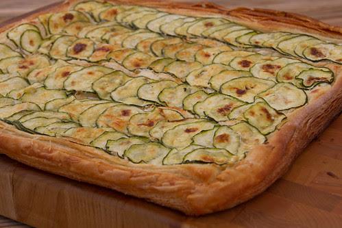 Courgette and parmesan tart / Zucchini and parmesan tart / Parmesani-suvikõrvitsapirukas