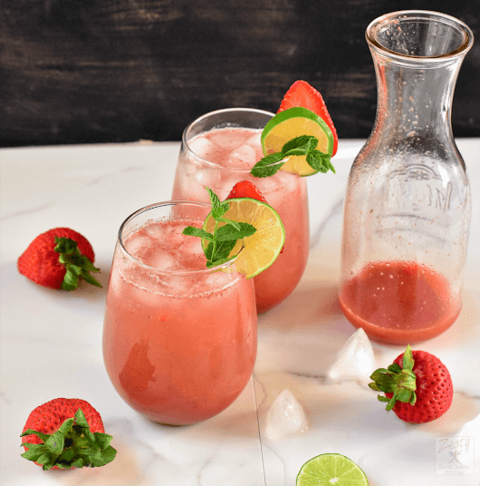 Strawberry Rose Agua fresca - Zesty South Indian Kitchen