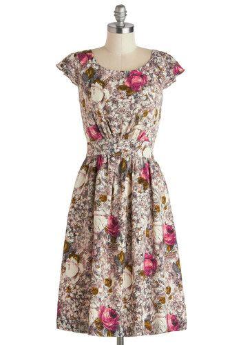 Emily and Fin Get What You Dessert Dress in Rose | Mod Retro Vintage Dresses | ModCloth.com