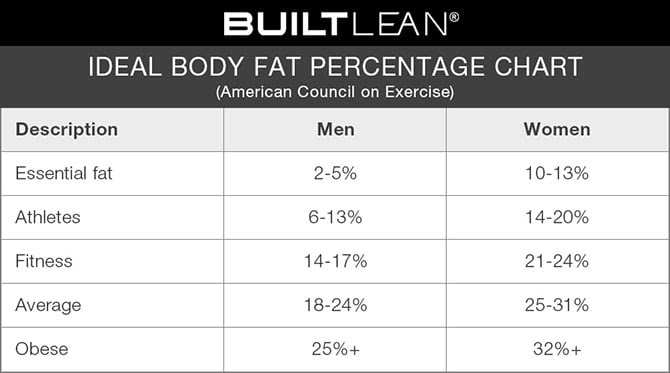 healthiest body fat percentage female