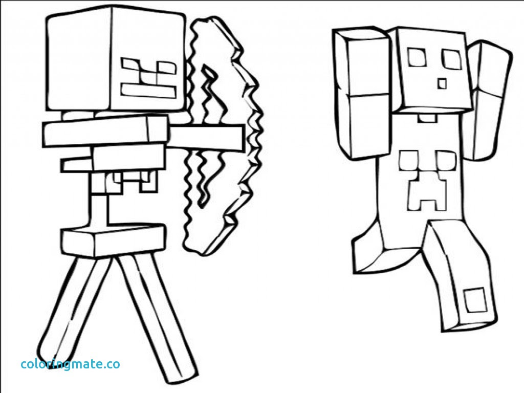 Ausmalbilder Minecraft Creeper
