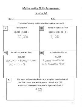 Fifth Grade Envision Math 2 0 Grade 5 Answer Key Pdf