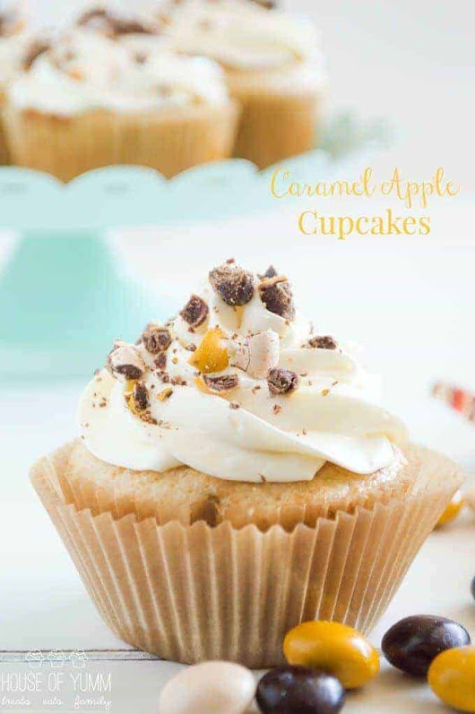 Caramel Apple Cupcakes - House of Yumm