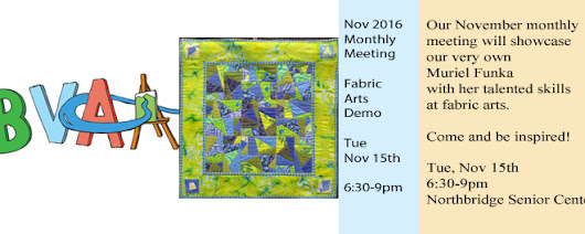 Nov 2016 Monthly Meeting – Fabric Arts