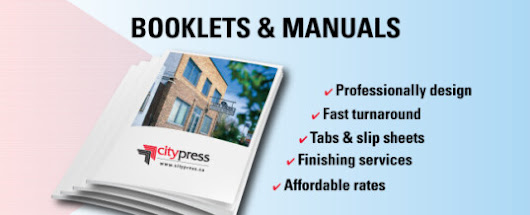 Manual and Booklet Printing –  Citypress | Winnipeg Printing | We Treat Your Colour Right