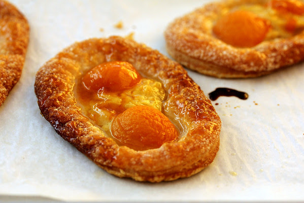 Sunny Side Up Apricot Pastries with Homemade Puff Pastry
