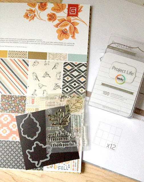 month of gratitude project life supplies by Kimberly Crawford