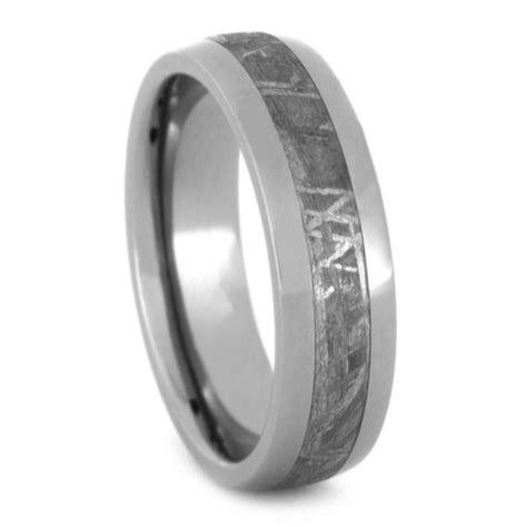 Meteorite Ring, Unisex Wedding Band with Genuine Gibeon