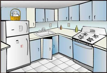 Kitchen Outline Clip Art Clip Art Library