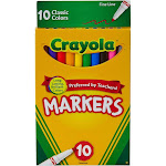 Crayola 10ct Fine Line Markers Classic Colors
