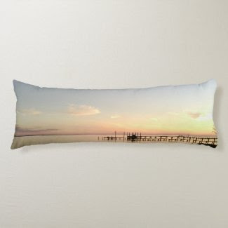 Sunset Sea of Silence Body Pillow