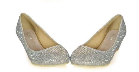 2013 New Style Silver Rhinestone Wedge Shoes Pumps Diamond