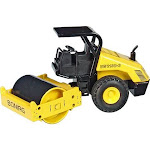 NZG NZG4751 1 by 87 Scale Bomag BW213 Compactor with Canopy