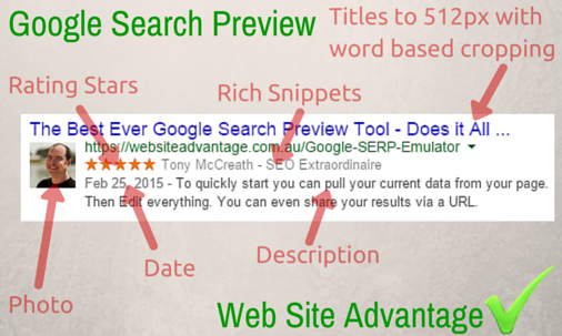 Google Search Preview Tool
