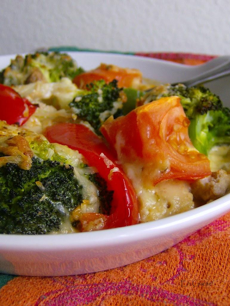 Gratinado de verduras y pollo