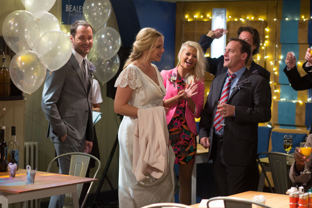 Lola, Billy and Aleks celebrate Ronnie and Charlie's big day