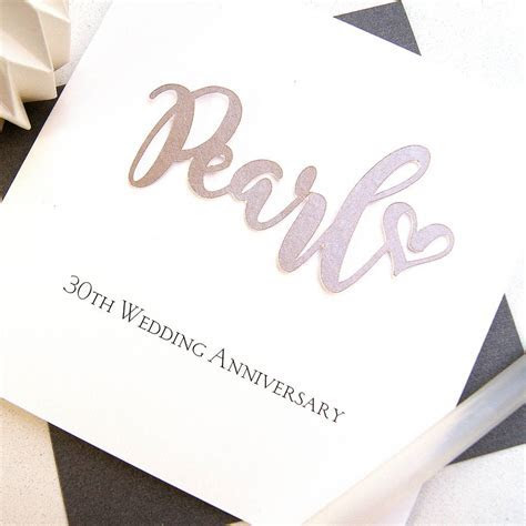 30th pearl wedding anniversary card by the hummingbird