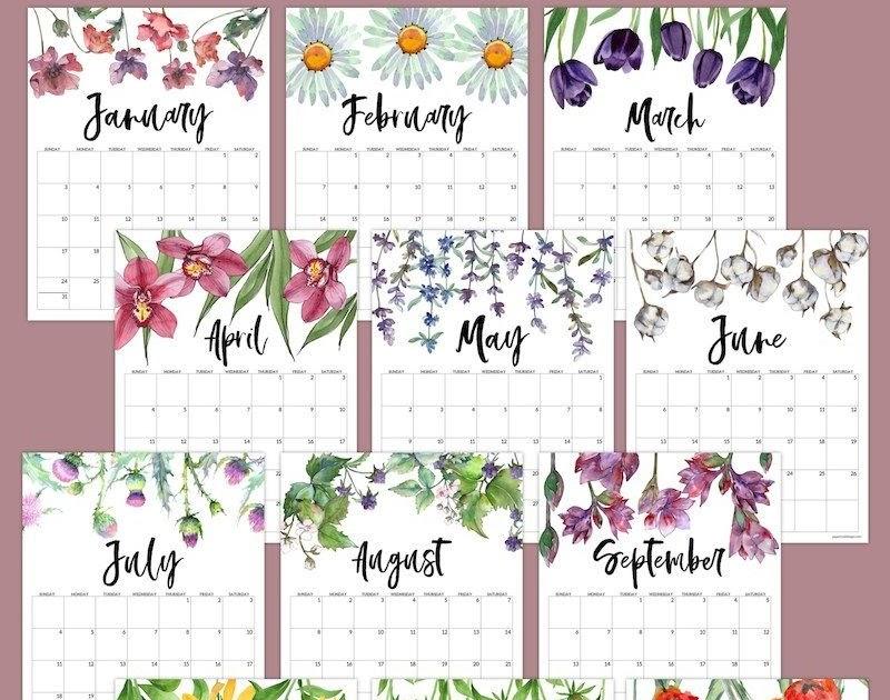 February 2021 Calendar Printable Aesthetic : Download ...