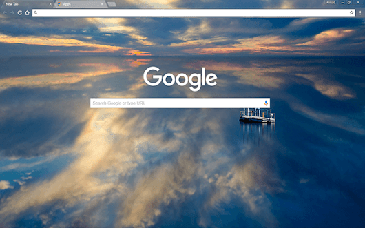 Custom Reflective Water HD Google Chrome Theme Download ...