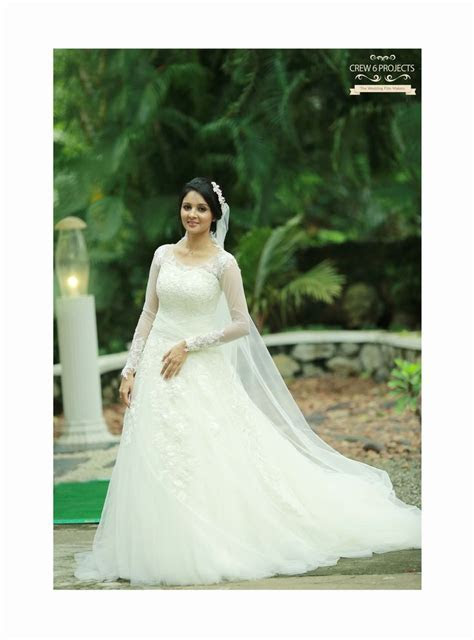 Kerala Christian Bride. Super gorgeous Wedding Gown