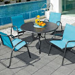 Telescope Casual Gardenella Sling Stacking Cafe Chair - patio furniture and outdoor furniture - miami - by Atlantic Patio Furniture