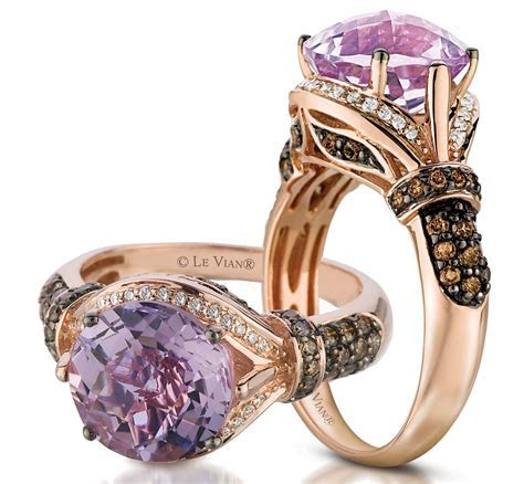 Cotton Candy Amethyst® Ring in Strawberrry Gold® with