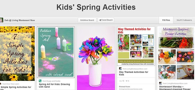 Kids Spring Activities Pinterest Board