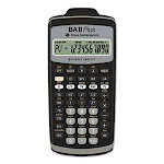 Texas Instruments BAIIPlus Financial Calculator, 10-Digit LCD (TEXBAIIPLUS)