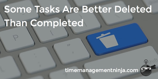 Some Tasks Are Better Deleted Than Completed