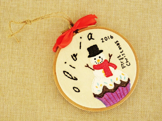 Baby's First Christmas Ornament Baby Ornament by happyfacecraft
